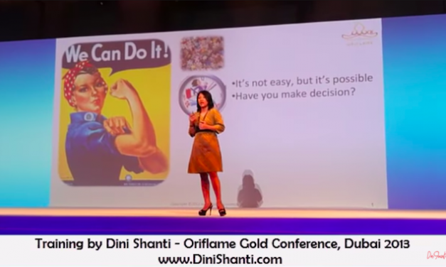 Training by Dini Shanti – Oriflame Gold Conference, Dubai 2013