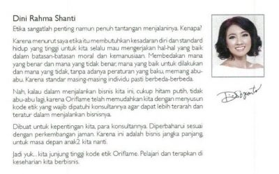 Kode Etik Oriflame Indonesia